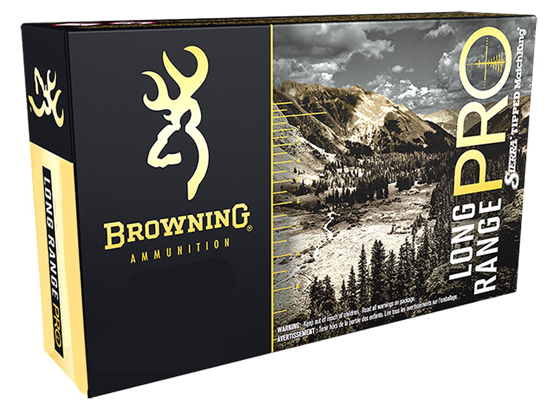 Browning Ammo B192530001 Long Range Pro   300 Winchester Short Magnum 195 GR Sierra MatchKing BTPT 20 Bx/ 10 Cs