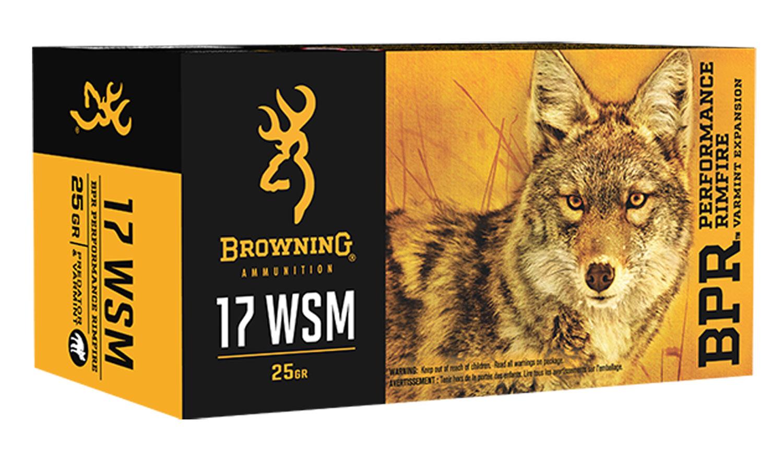Browning Ammo B165117050 BPR  17 WSM 25 GR Poly Tip 50 Bx/ 10 Cs