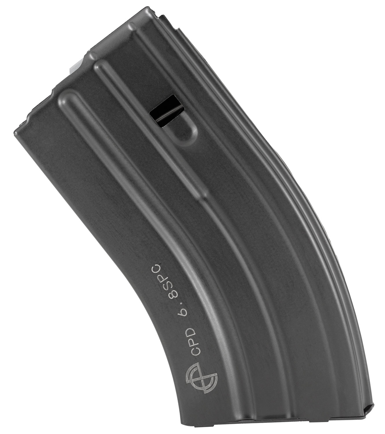C Products Defense Inc 2068041207CP Rifle   6.8 SPC 20 Round Stainless Steel Black Finish with Gray Follower