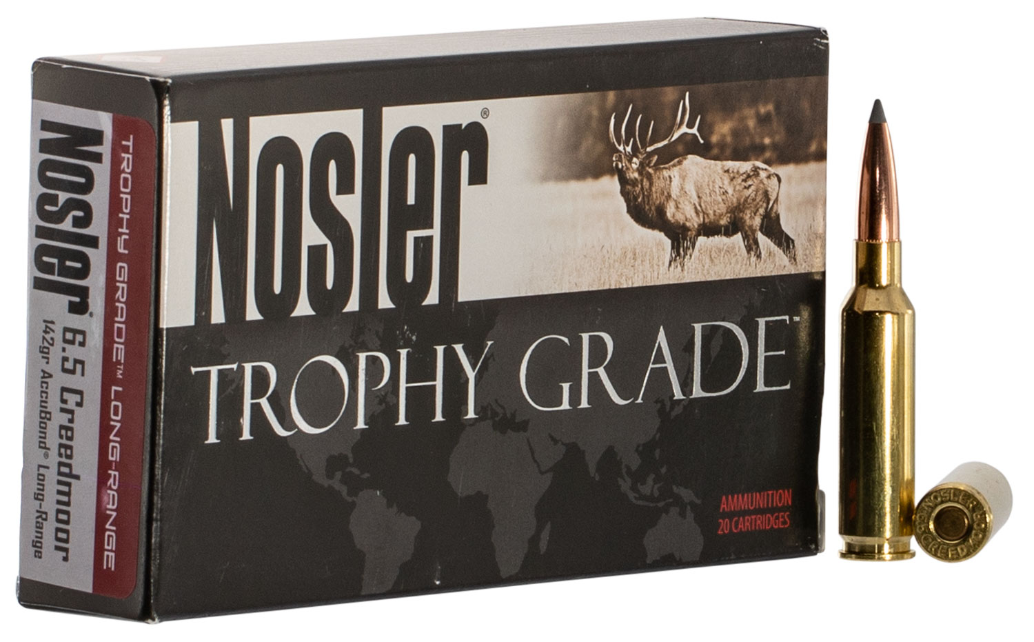 Nosler 60105 Trophy   6.5 Creedmoor 142 GR AccuBond 20 Bx/ 10 Cs