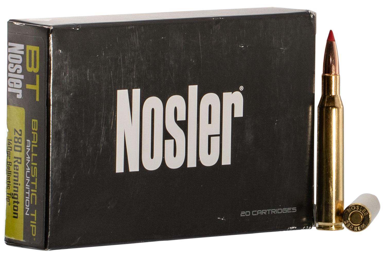 Nosler 40073 Ballistic Tip   280 Remington 140 GR Ballistic Tip 20 Bx/ 10 Cs