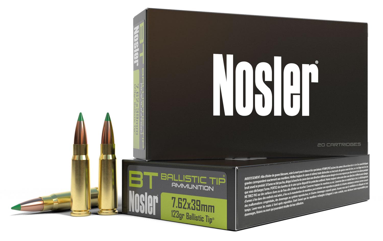 Nosler 40069 Ballistic Tip Hunting 7.62X39mm 123 GR Ballistic Tip 20 Bx/ 10 Cs