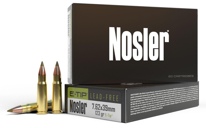 Nosler 40040 E-Tip  7.62X39mm 123 GR E-Tip Boat Tail 20 Bx/ 10 Cs