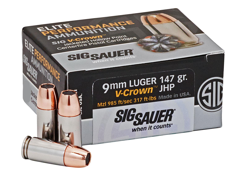 Sig Sauer E9MMA3COMP50 Elite Match  9mm Luger 147 GR Jacketed Hollow Point 50 Bx/ 20 Cs