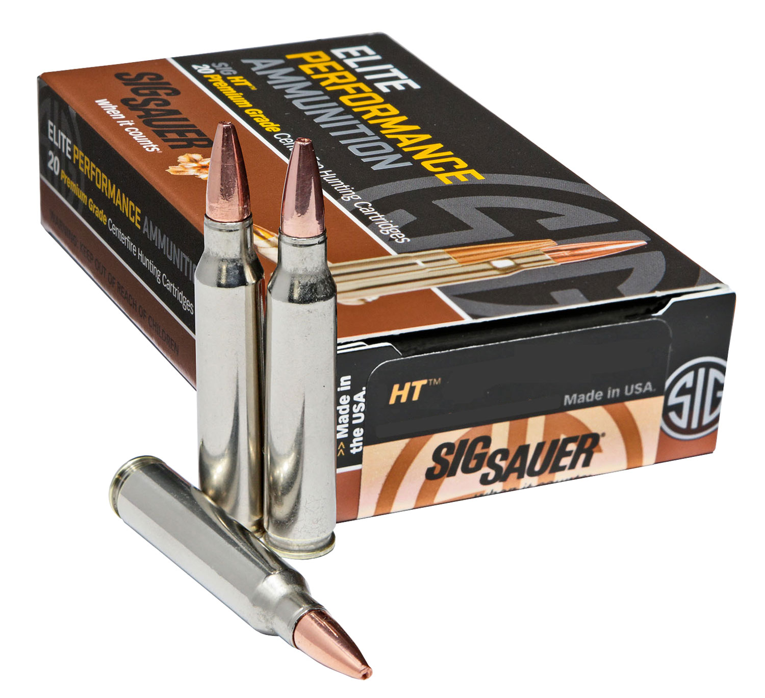 Sig Sauer E243H120 Elite Hunting   243 Winchester 80 GR 20 Bx/ 10 Cs