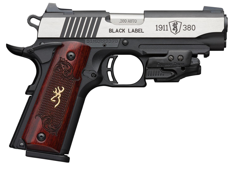 Browning 051952492 1911-380 Black Label Medallion 380 ACP 4.25