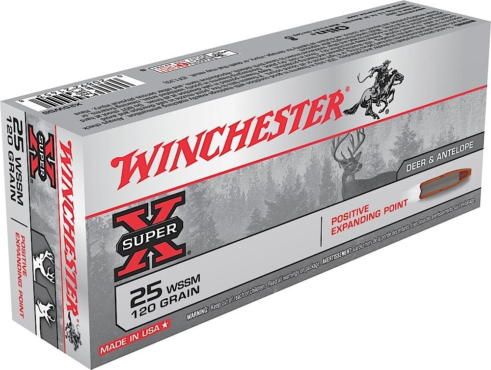 Winchester Ammo X25WSS Super-X 25 WSSM 120 GR Positive Expanding Point 20 Bx/ 10 Cs