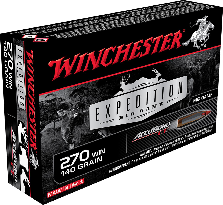 Winchester Ammo S270CT Supreme 270 Winchester 140 GR AccuBond CT 20 Bx/ 10 Cs