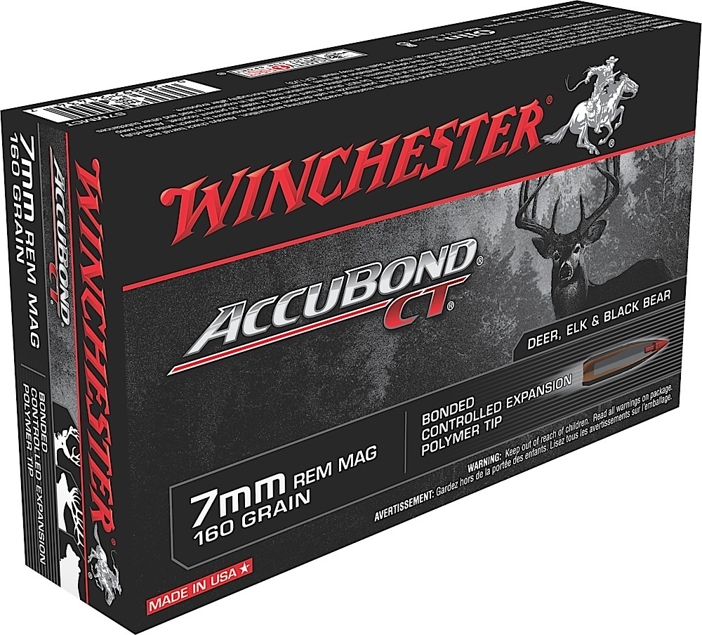 Winchester Ammo S7MMCT Supreme 7mm Remington Magnum 160 GR AccuBond CT 20 Bx/ 10 Cs