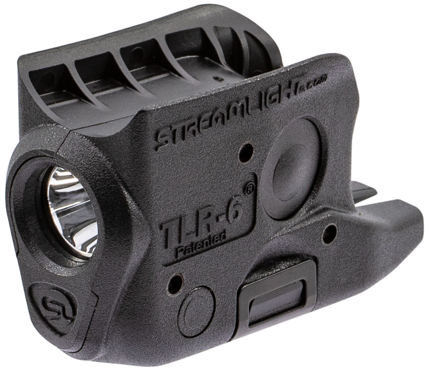 Streamlight 69280 TLR-6 Weapon Light fits Glock 42/43 White LED 100 Lumens 1/3N Lithium Battery Black Polymer No Laser