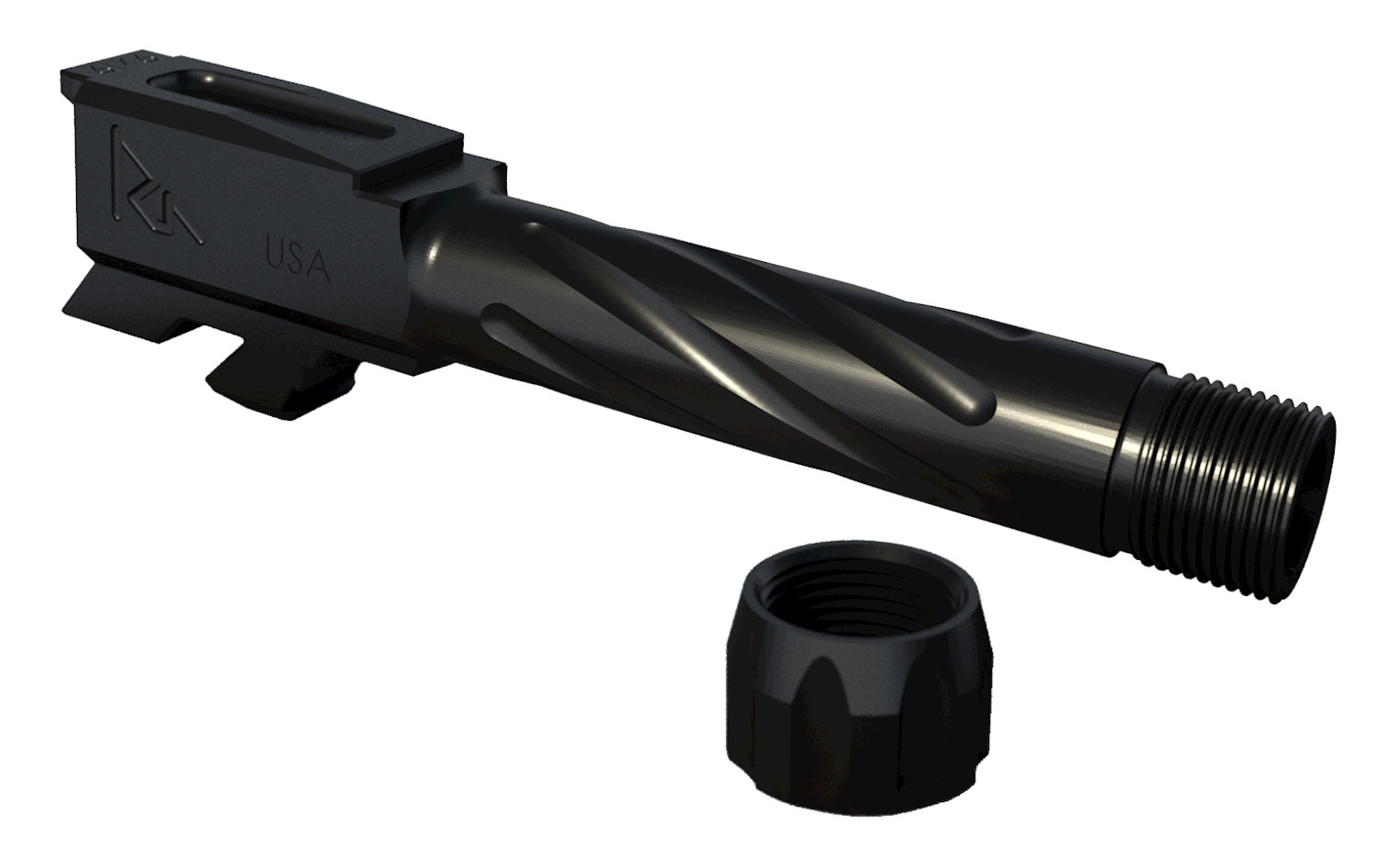 Rival Arms RA20G302A Threaded  fits Glock 43 416 Stainless Steel Black