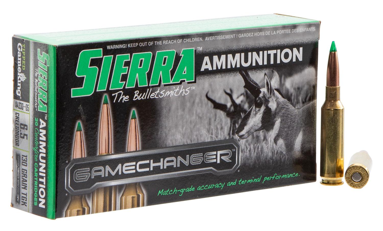 Sierra A433005 GameChanger   6.5 Creedmoor 130 GR Tipped GameKing 20 Bx/ 10 Cs