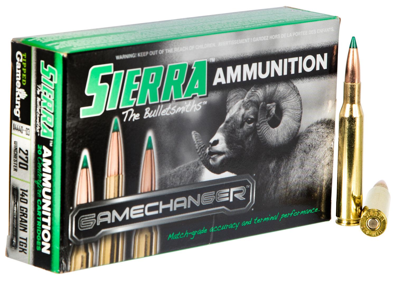 Sierra A444003 GameChanger   270 Winchester 140 GR Tipped GameKing 20 Bx/ 10 Cs