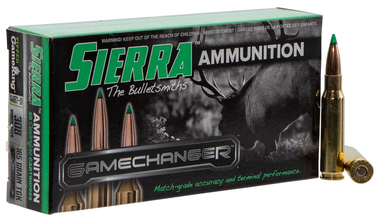 Sierra A466701 GameChanger   308 Winchester 165 GR Tipped GameKing 20 Bx/ 10 Cs