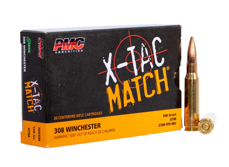 PMC X-TAC Match .308 Winchester Rifle Ammo - 168 Grain | OTM | 20rd Box