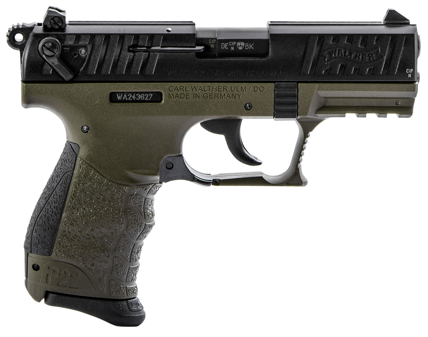 Walther Arms 5120715 P22 Q Military 22 LR 3.42