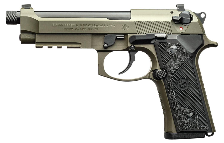 M9A3 9MM GRN/BLK 5 10+1 SFTY - GRN FRAME/BLK SLIDE 1/2X28 TPI