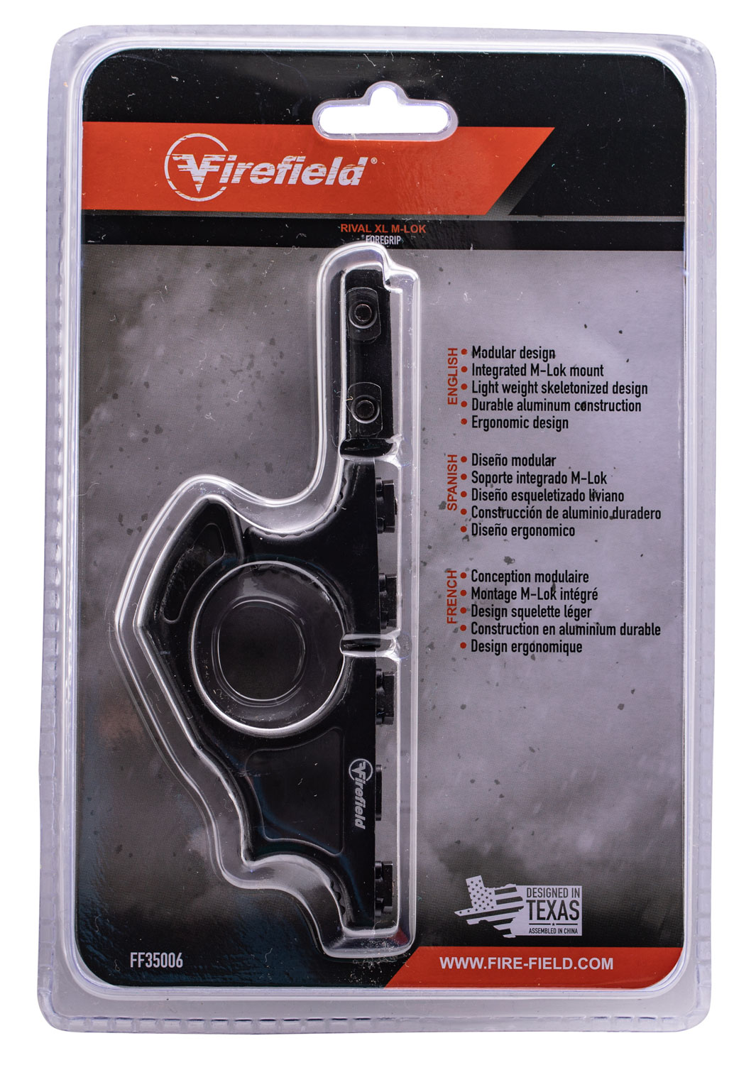 Firefield  Rival Foregrip  Tactical Rival Textured Aluminum Black Matte