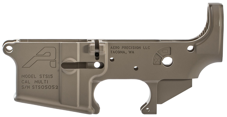 Aero Precision APAR501201C Short Throw Safety Stripped Lower Receiver  AR-15 Magpul FDE Cerakote