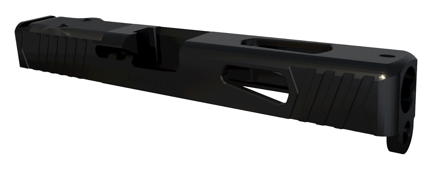 RIVAL ARMS RA10G105A Precision Slide Doc Optic Cut Compatible with Glock 17 Gen 3 17-4 Stainless Steel Black