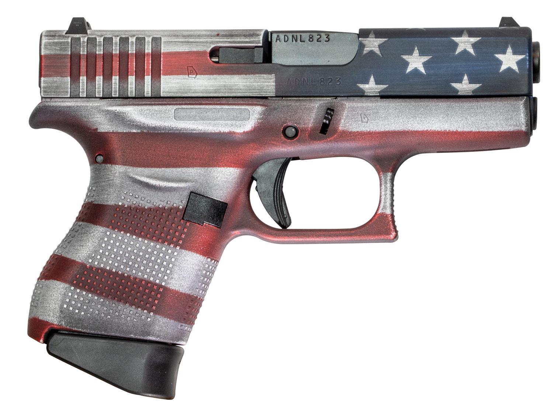 Glock UI4350201CKFLAG G43 Subcompact 9mm Luger 3.41