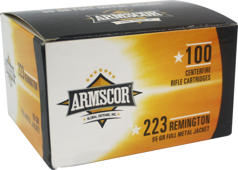 Armscor 50447 Armscor Precision Value Pack 223 Remington 55 GR Full Metal Jacket 100 Bx/ 12 Cs