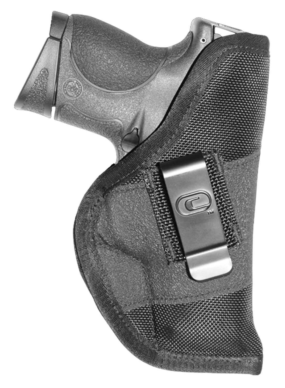 Crossfire Shooting Gear CRF-GRPCLPSA1M-1 The Grip Clip Holster 01 Black Rubber Grip Fabric/ 1680 Denier Ballistic Nylon IWB/Pocket 1-1.5