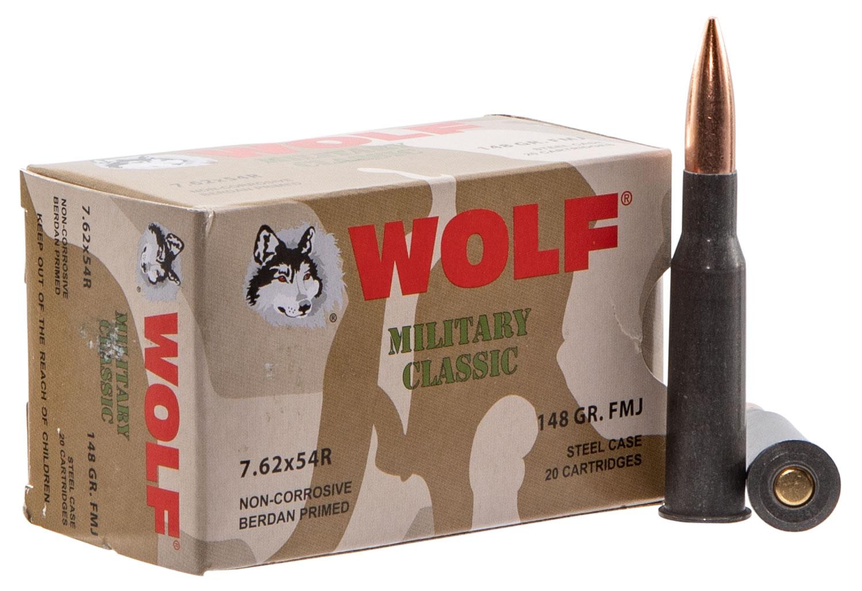 WOLF MC76254R148 MLT 7.62X54R FMJ 148 500