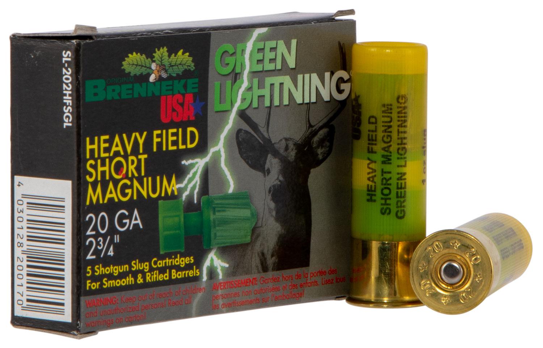 Brenneke SL202HFSGL Green Lightning   20 Gauge 2.75