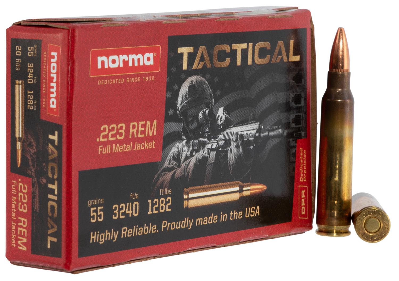 Norma Ammunition (RUAG) 295040020 Tac  223 Rem 55 gr Full Metal Jacket (FMJ) 20 Bx/ 25 Cs