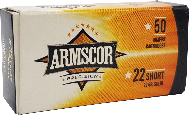 Armscor 50415   22 Short 29 GR Soft Point (SP) 50 Bx/ 100 Cs