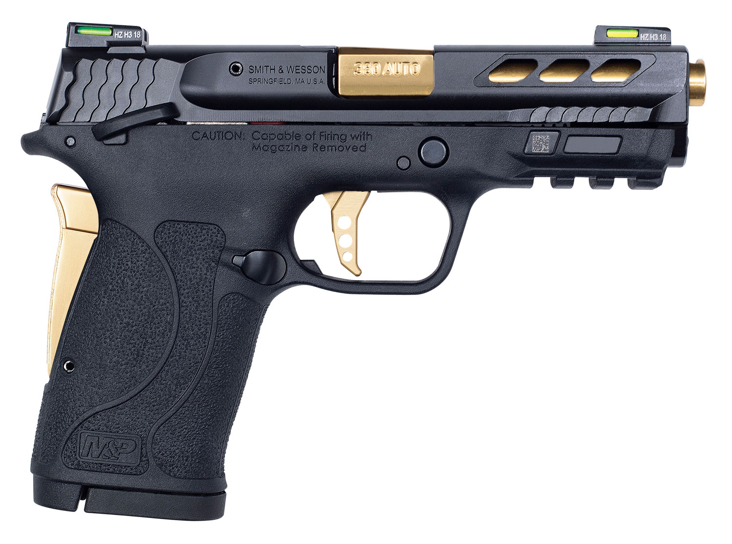 Smith & Wesson 12719 Performance Center 380 Shield EZ 380 Automatic Colt Pistol (ACP) Double 3.8