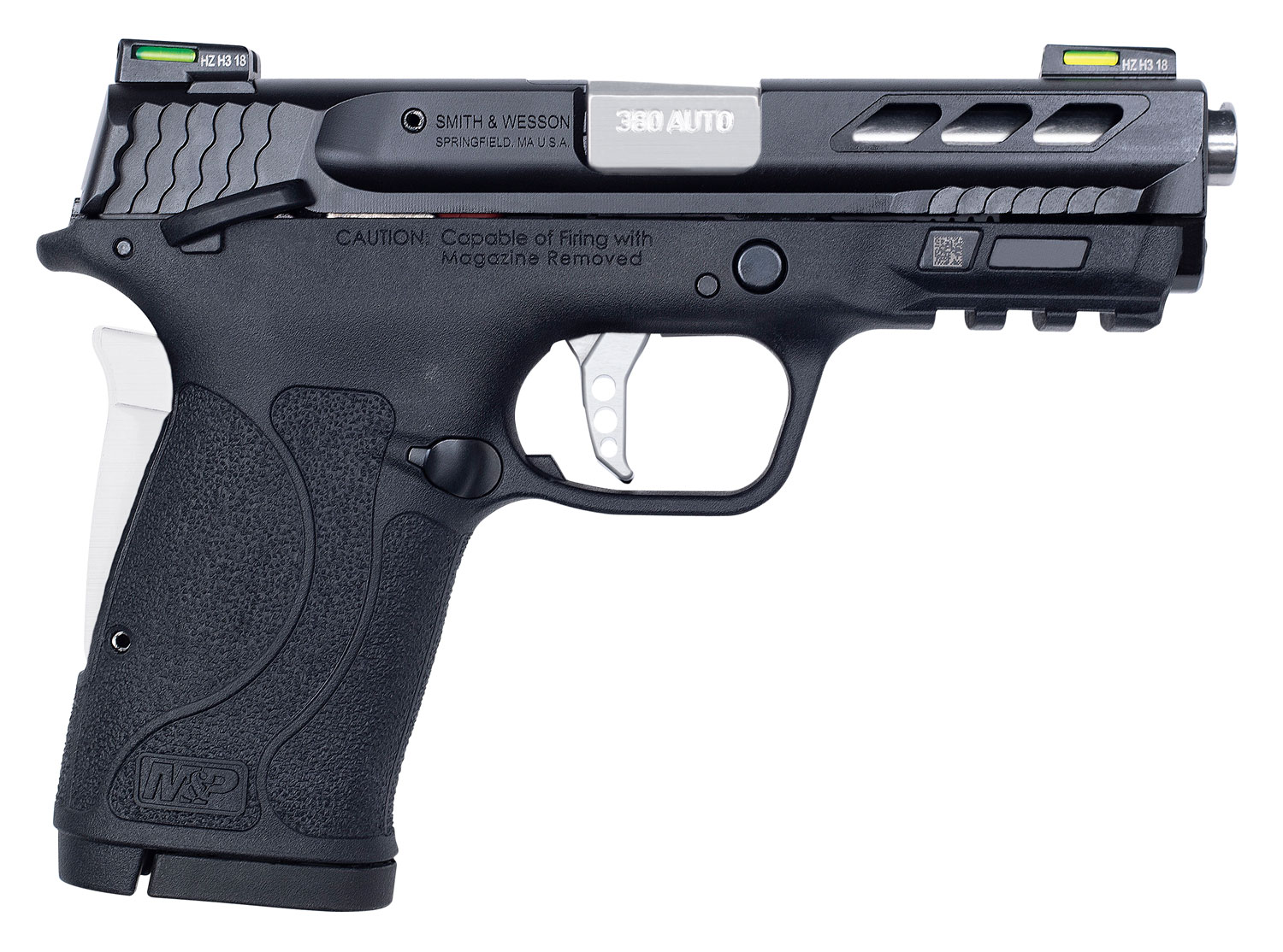 Smith & Wesson 12718 Performance Center 380 Shield EZ 380 Automatic Colt Pistol (ACP) Double 3.8
