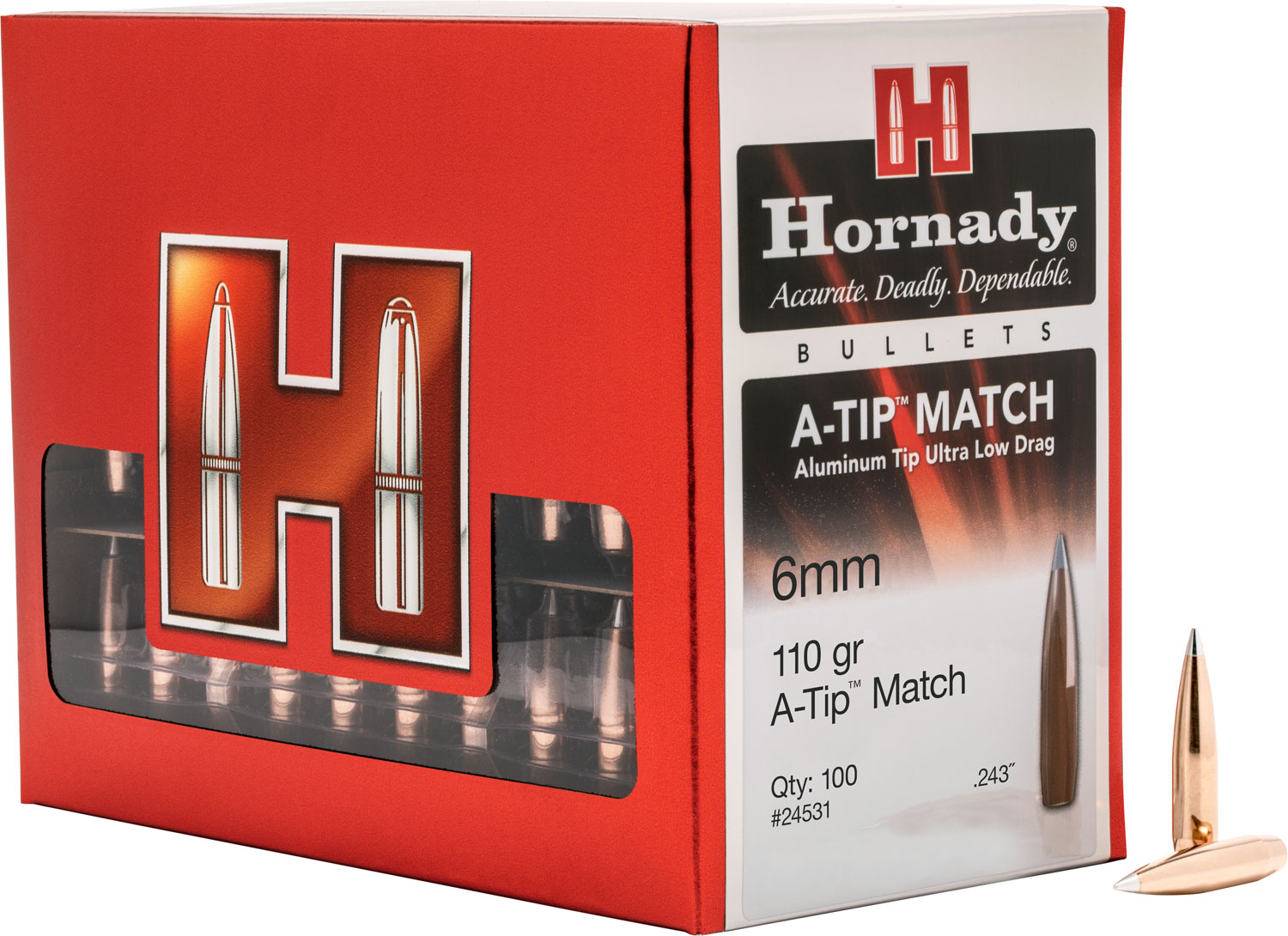 HRNDY A-TIP 6MM .243 110GR 100CT
