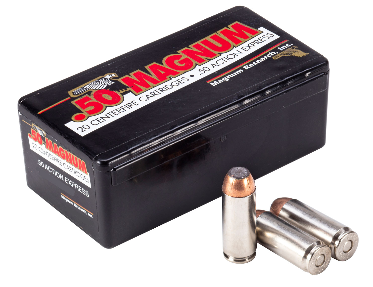 Magnum Research DEP50JSP325B Desert Eagle  50 AE 325 GR Jacketed Soft Point 20 Bx/ 20 Cs