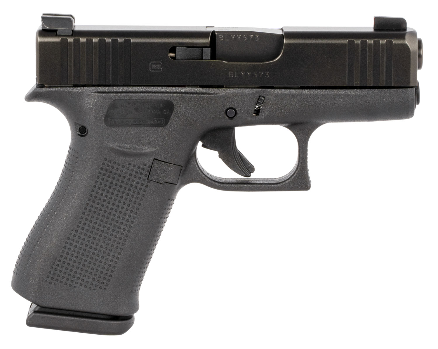 Glock PX4350301AB G43X  with AmeriGlo 9mm Luger DAO 3.41