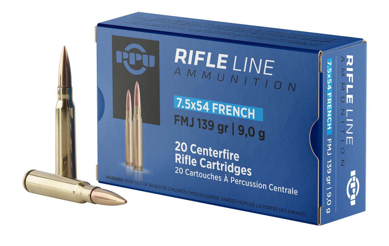 PPU PP7F   7.5x54 French 139 GR Full Metal Jacket 20 Bx/ 10 Cs