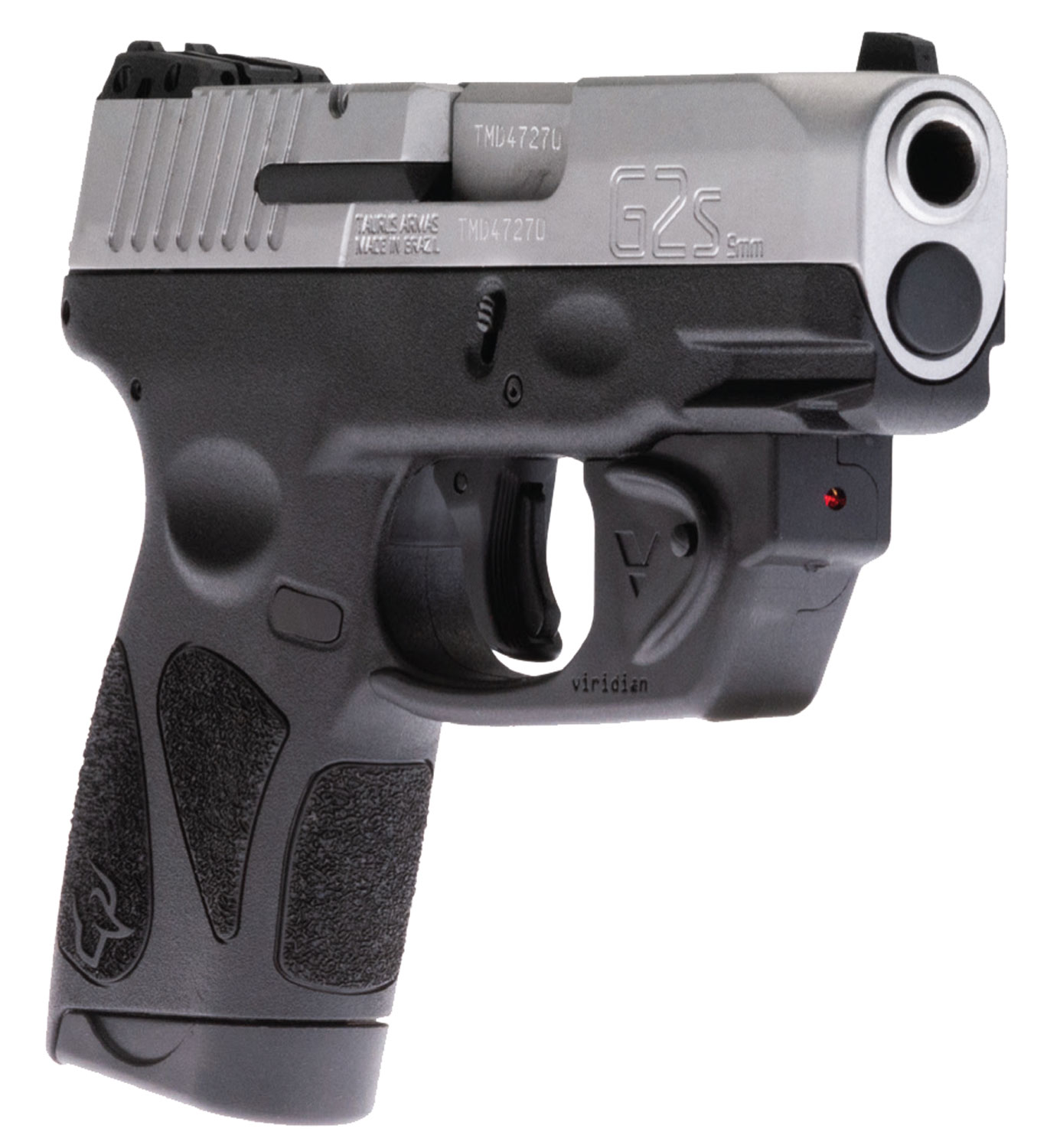 Taurus 1G2S939VL G2S with Viridian Laser 9mm Luger Single 3.25