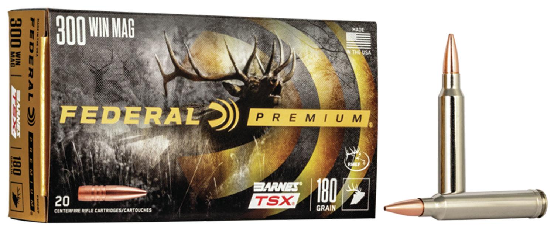 Federal P300WP Premium   300 Win Mag 180 GR Barnes Triple-Shock X Bullet (TSX) 20 Bx/ 10 Cs