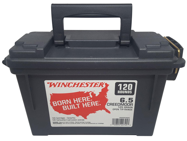 Winchester Ammo USA65CMAC USA  6.5 Creedmoor 125 GR Open Tip 120 Bx/ 4 Cs