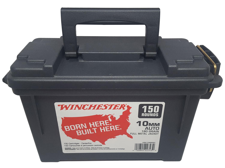 Winchester Ammo USA10MMAC USA  10mm Auto 180 GR Full Metal Jacket 150 Bx/ 4 Cs