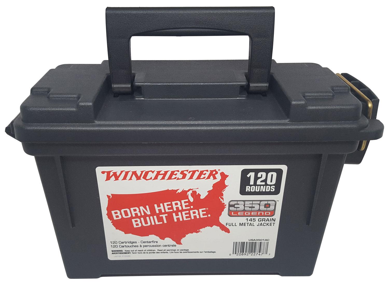 Winchester Ammo UWA3501AC USA  350 Legend 145 GR Full Metal Jacket 120 Bx/ 4 Cs