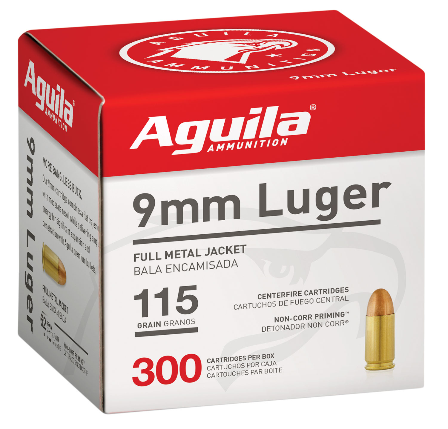AGUILA 9MM 115GR FMJ 300/1200