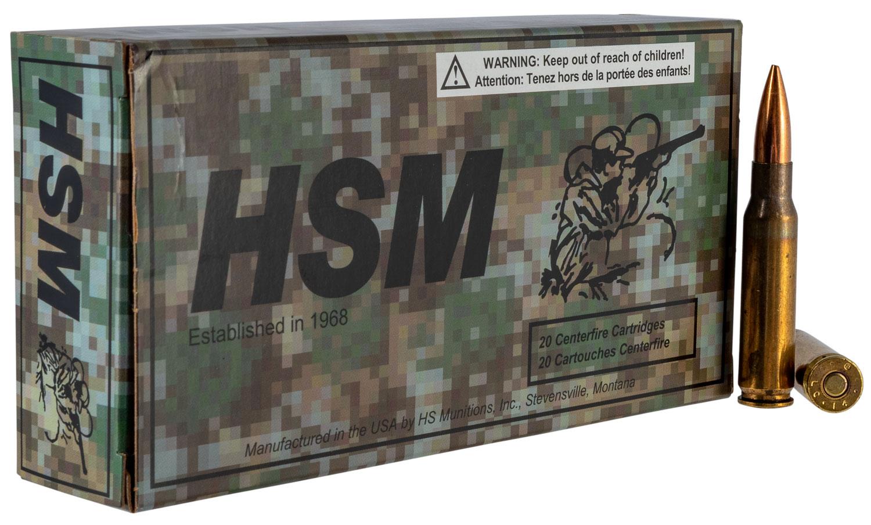 HSM 762X511N      7.62X51  168 MATCH KING    20/25