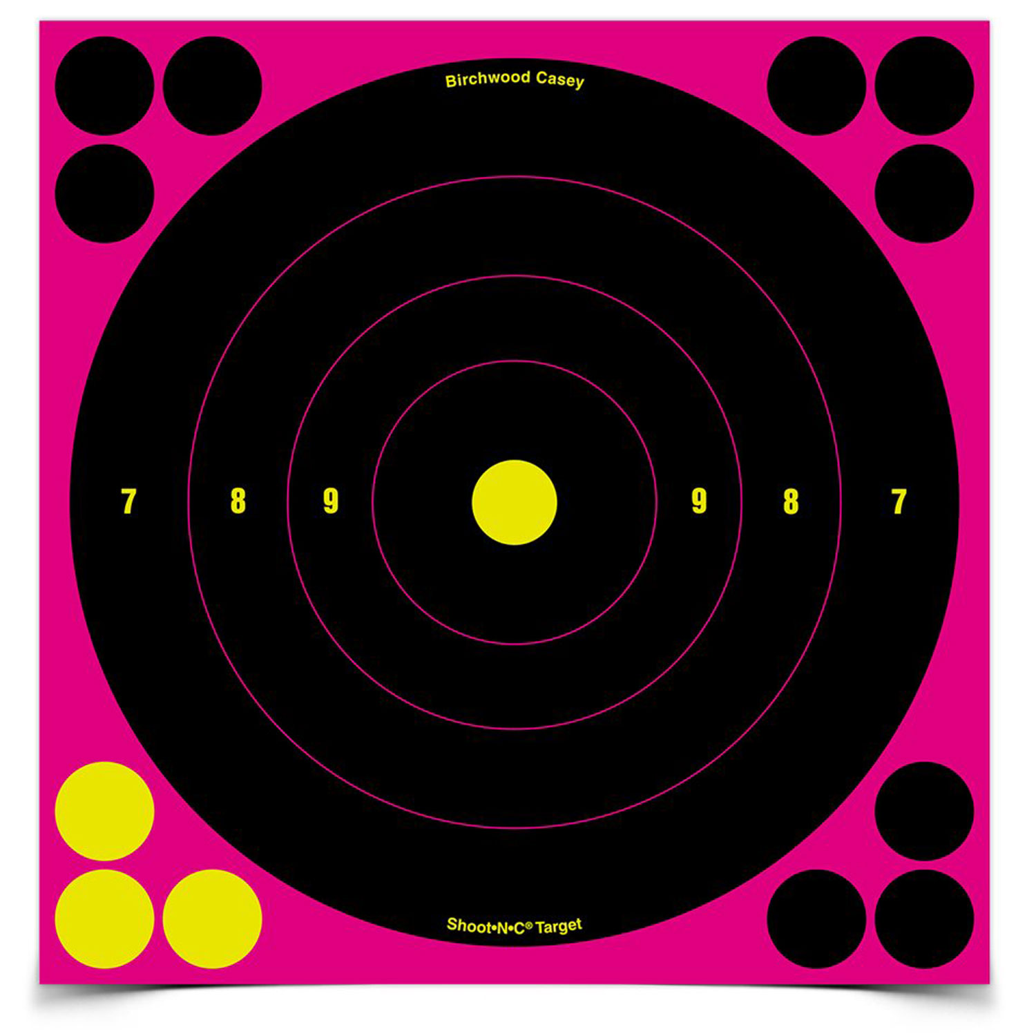 Birchwood Casey Shoot-N-C Pink 8in Bulls-Eye Target 30pk