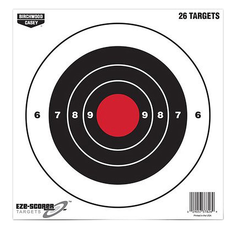 Birchwood Casey 37826 EZE-Scorer Bull's-Eye  Paper 8