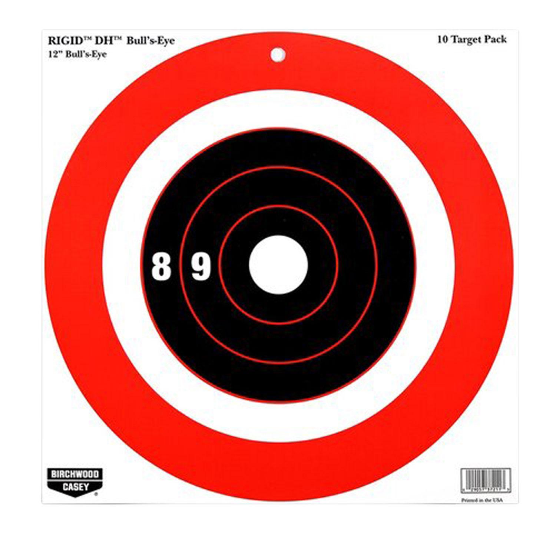 Birchwood Casey 37211 Rigid Bull's-Eye DH Tagboard 12
