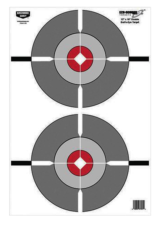 Birchwood Casey 37061 EZE-Scorer Double Bull's-Eye Paper 12