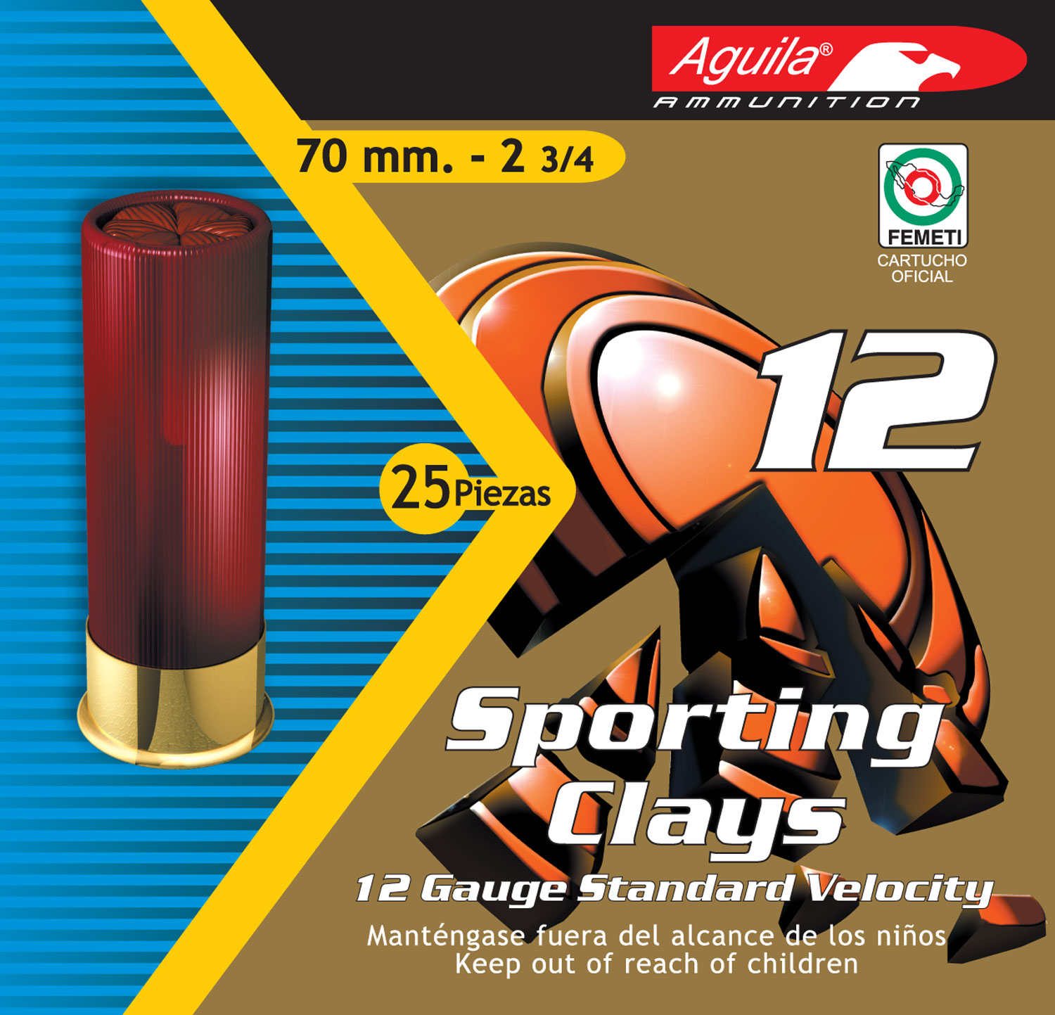 Aguila 1CHB1246 Competition   12 Gauge 2.75
