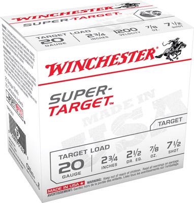 Winchester Ammo TRGT207 Super Target  20 Gauge 2.75